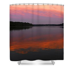 Shower Curtain featuring the photograph Eagle Overlooking Domain by Randall Branham