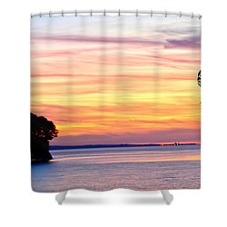 Shower Curtain featuring the photograph Eagle Sunrise by Randall Branham