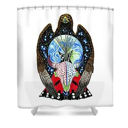 Eagle Tipi Shower Curtain by Tim McCarthy