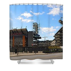 Eagles - The Linc Shower Curtain by Bill Cannon
