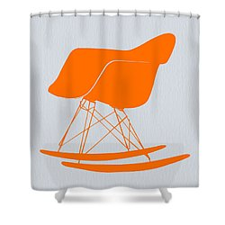 Eames Rocking Chair Orange Shower Curtain
