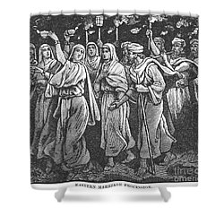Early Christian Marriage Shower Curtain by Granger