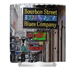 Early Morning Bourbon Street Shower Curtain by Bill Cannon