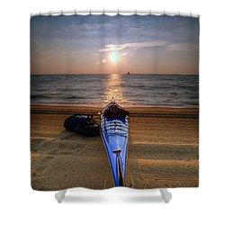 Early Morning Row Shower Curtain by Edward Kreis