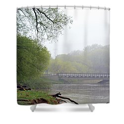 Shower Curtain featuring the photograph Early Spring Morning Fog by Kay Novy