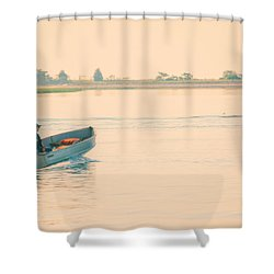 Early Start Shower Curtain by Karol Livote