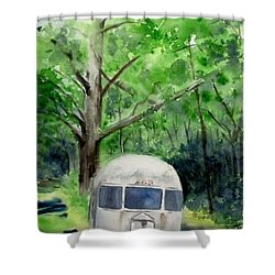 Shower Curtain featuring the painting Early Summer At The Geddes Farm 1 --ann Arbor  Michigan by Yoshiko Mishina