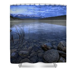 Early Summer Morning On Patricia Lake Shower Curtain by Dan Jurak