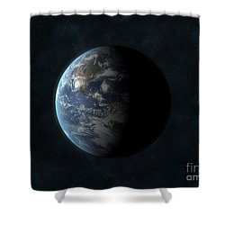 Earth Shower Curtain by Carbon Lotus