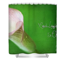 Earth Laughs In Flowers Shower Curtain by Darren Fisher