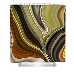 Earth Tones Shower Curtain by Renate Nadi Wesley