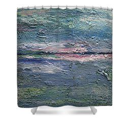 Shower Curtain featuring the painting Earthen Series 25 by Dolores  Deal
