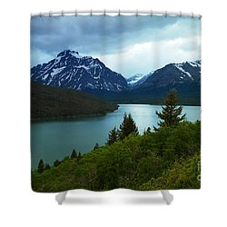 East Glacier Shower Curtain by Jeff Swan