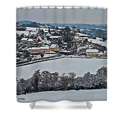 East Worlington In The Snow  Shower Curtain by Rob Hawkins
