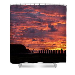 Easter Island Shower Curtain by Easter Island