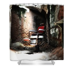 Eastern State Penitentiary - Barber's Chair Shower Curtain by Bill Cannon