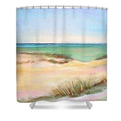 Shower Curtain featuring the painting Easy Breezy by Patricia Piffath