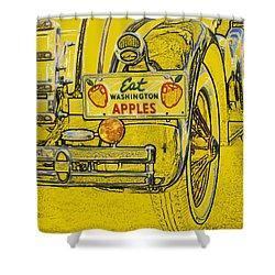 Eat Washington Apples Shower Curtain by Anne Mott