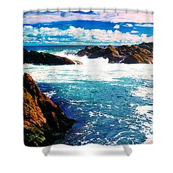 Ebbing Tide Shower Curtain by Phill Petrovic
