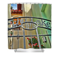 Echo Lake Gate Shower Curtain