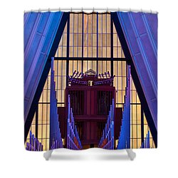 Echo Of The Pipes Shower Curtain by Colleen Coccia