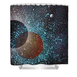 Eclipse Shower Curtain by Reina Cottier