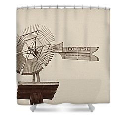 Eclipse Windmill 3578 Shower Curtain by Michael Peychich