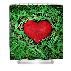 Eco Heart Shower Curtain