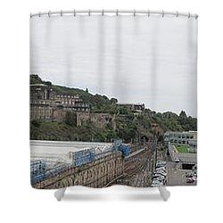 Edinburgh Station Panorama Shower Curtain
