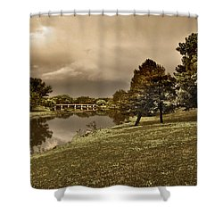 Shower Curtain featuring the photograph Eery Day by Brian Duram