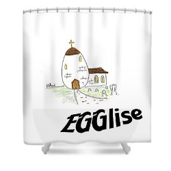 Egglise Shower Curtain
