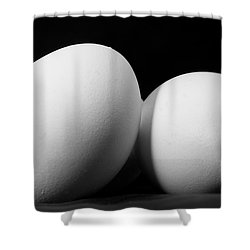 Eggs In Black And White Shower Curtain