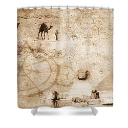 Egyptian Collage Shower Curtain by Chris Knorr