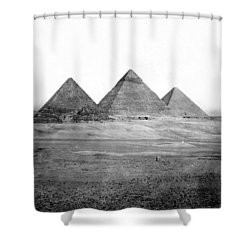 Egyptian Pyramids - C 1901 Shower Curtain by International  Images