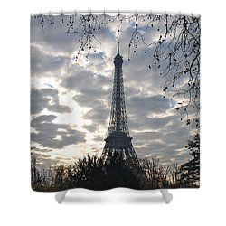 Shower Curtain featuring the photograph Eiffel In The Morning by Eric Tressler