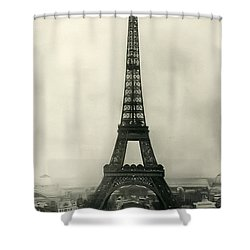 Eiffel Tower 1890 Shower Curtain by Bill Cannon
