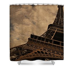 Eiffel Tower 2 Shower Curtain by Mary Machare