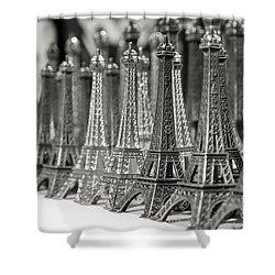 Eiffel Tower Miniature Shower Curtain