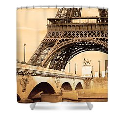 Eiffel Tower, Paris, France Shower Curtain by Carson Ganci