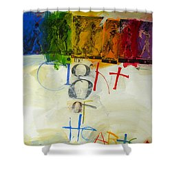 Shower Curtain featuring the painting Eight Of Hearts 34-52 by Cliff Spohn