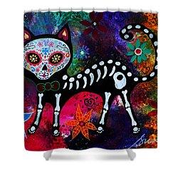 El Gato Ii Dia De Los Muertos Painting By Pristine Cartera Turkus