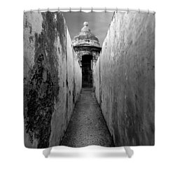 El Morro In Black And White Shower Curtain