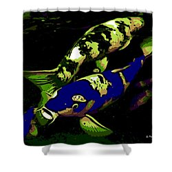 Electric Blue Shower Curtain by George Pedro