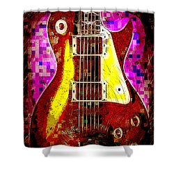 Electric Guitar Abstract Shower Curtain by David G Paul