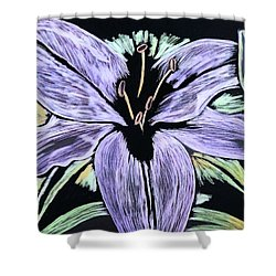 Electric Lily Phase Two Shower Curtain by Lisa Brandel