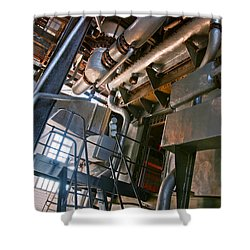 Electric Plant Shower Curtain by Carlos Caetano