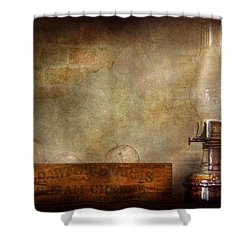 Electrician - Advancements In Lighting  Shower Curtain by Mike Savad