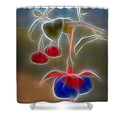 Electrifying Fuchsia Shower Curtain by Susan Candelario