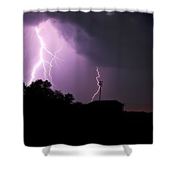 Electrifying Sky  Shower Curtain