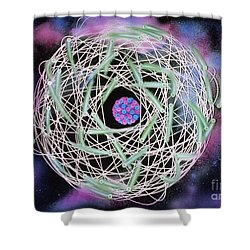 Electrons Orbiting Atom Shower Curtain by Omikron